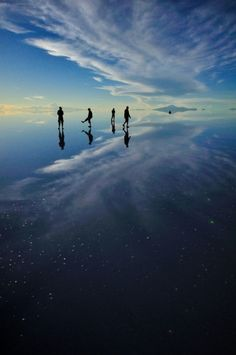 Salar de Uyuni, Bolivia The world's largest salt flat, it creates a mirror effect after the rain.
