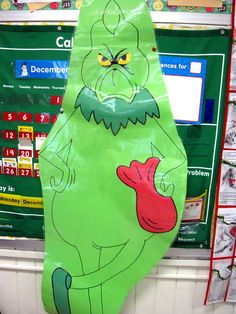 Grinch School Party: games, such as present sled obstacle course, and other party ideas Grinch Decorations, Grinch Ornaments, Christmas Ornament Crafts, Holiday Crafts, Holiday Fun, Holiday Ideas, Grinch Christmas Party, Grinch Party, Xmas Party