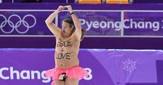 Streaker Crashes Winter Olympics In Pink Tutu And Monkey Penis Pouch