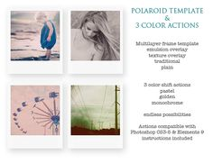 Free Actions and Template for Photoshop