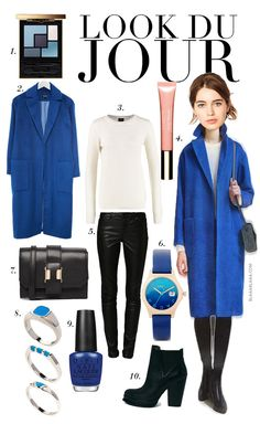 Look Du Jour: Eine Runde blaue Stunde! Boyish Style, My Style, Fall Winter Outfits, Autumn Winter Fashion, Winter Typ, Paris Outfits, Classic Chic, Wardrobe Basics, Outfit Combinations