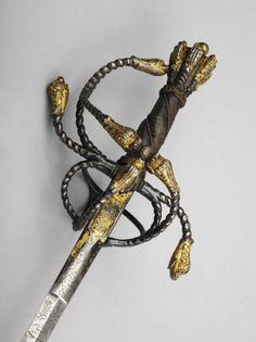 Rapier Unknown Artist / Maker Hilt- North Europe, possibly; blade- German, possibly Passau c. 1620 - c. 1640