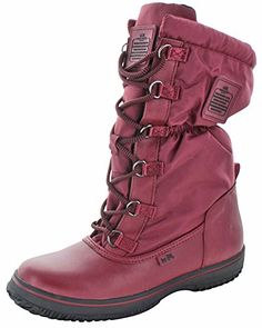 5eadc9d82bc8bd Coach Sage Womens Nylon Cold Weather Hiking Snow Boots Red Size 9