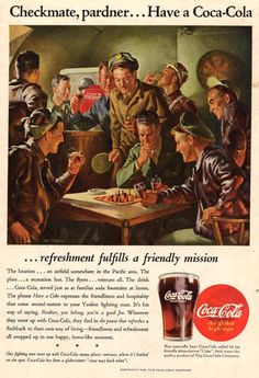 coca cola ad somewhere in pacific area 1945