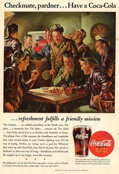 coca cola ad somewhere in pacific area 1945