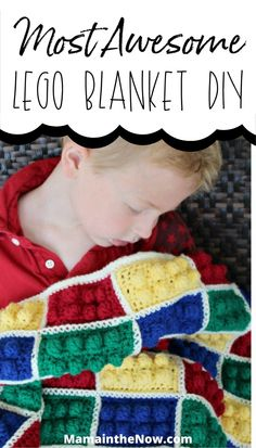 Crochet instructions inside of how you can make this epic LEGO blanket. This LEGO blanket instantly becomes a kid's favorite heirloom blanket. Don't miss these LEGO crochet instructions - your kids and grandkids will be thrilled to receive a homemade LEGO craft. #LEGO #LEGOBlanket #Crochet #CrochetLEGO #LEGOCraft #MamaintheNow Easy Diy Crafts, Home Crafts, Fun Crafts, Crafts For Kids, Crochet Lego, Lego Decorations, Lego Craft, Crochet Instructions, Cool Lego