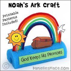 Noah's Ark Rainbow Display Craft from www.daniellesplace.com