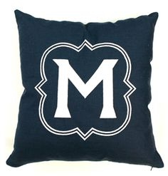 For the bedroom- DIY monogram throws!