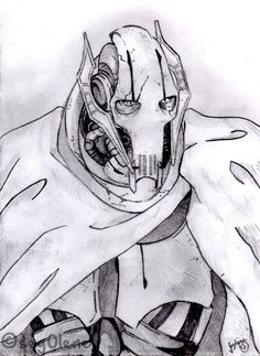 [sketch] General Grievous by seg0lene on DeviantArt