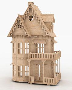 Vector Corte Láser te trae esta hermosa Casa Gótica, hecha en Madera MDF.     Imagen de ejemplo , Foto: enviado por Pablo Cesar Pavan.  Ca...