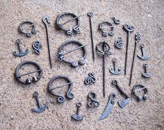 Viking fibula and pins
