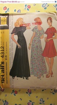 SALE Uncut 1970's McCall's Sewing Pattern 4312 by EarthToMarrs, $7.20