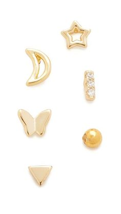 Leigh Miller Jewelry Padina Gold-tone Earrings tR3FS
