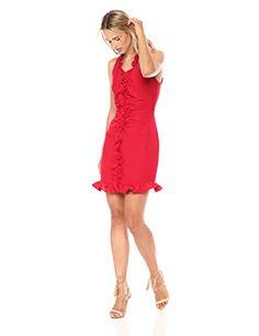 C/MEO COLLECTIVE Women's Forgive Ruffle Detail Sleeveless Ruched Mini Dress Program Design, Forgiveness, Designer Dresses, Ruffles, Summer Dresses, Detail, Elegant, Mini, Stuff To Buy