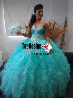 2017 New Beaded Sweet 15 Ball Gown Tiffany Blue Satin Tulle Prom Dress Gown Vestidos De 15 Anos