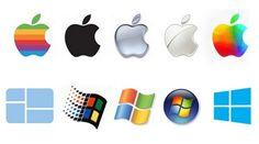 Transfert de couleurs entre les logos de Windows et d'Apple