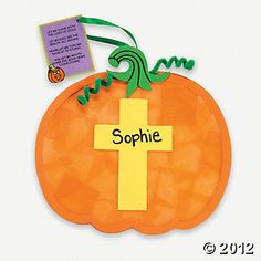 Christian Pumpkin Tissue Paper Craft Kit, Decoration Crafts, Crafts for Kids, Craft Hobby Supplies - Oriental Trading Thanksgiving Crafts, Fall Crafts, Halloween Crafts, Preschool Halloween, Fall Preschool, Halloween Items, Holiday Crafts, Jesus Crafts, Bible Crafts