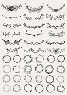 Hand drawn elements bundle by Bimbim on @creativemarket