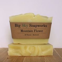 Mountain Flower - All Natural Soap, Handmade Soap, Cold Process Soap by BigSkySoapworks on Etsy