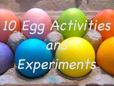 The Chocolate Muffin Tree: 10 Different Egg Activities and Experiments from Tinkerlab and The Chocolate Muffin Tree