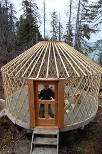 Love Watching Yurts Go Up Ideas For Guest Quarters Pinterest
