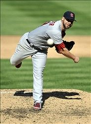 Game 3 of the NLDS- starting pitcher Chris Carpenter  10-10-12