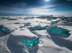 Frozen waves in Siberia