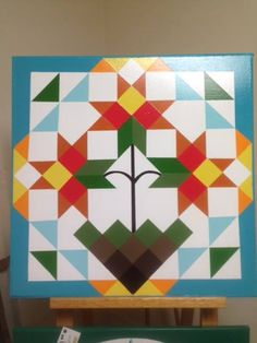 BARN QUILT Headquarters of the Blue Ridge - Flowering Mosaic