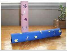 """Make """"Ramadan moon finders."""" Decorate paper towel rolls with stars and moons, and search the room for moons hanging on the walls/ceilings."""