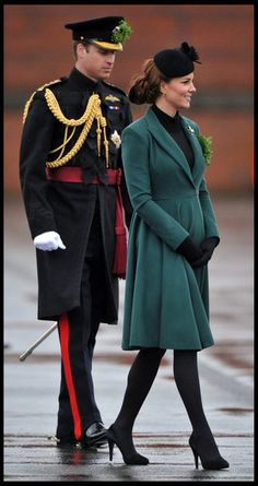 Catherine, Duchess of Cambridge and Prince William attend The Irish Guards St Patricks Day Parade in London