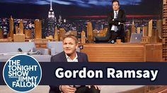The Tonight Show Starring Jimmy Fallon: Gordon Ramsay Gets Placed on the Naughty Step Jimmy Fallon Show, Chef Gordon Ramsay, Make Dreams Come True, Tonight Show, Voice Actor, Rap, Tv Shows, Hilarious, Actors