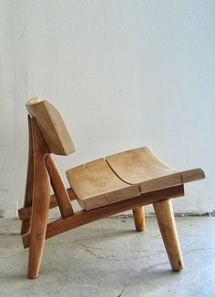 John Booth; Wooden Up-Cycled lounge Chair, 2000s.