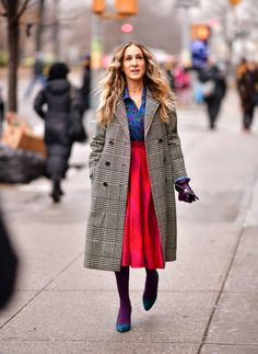 Komplette Outfits, Fall Fashion Outfits, Star Fashion, Winter Outfits, Winter Fashion, Sarah Jessica Parker, Fashion Looks, Quirky Fashion, Rachel Bilson