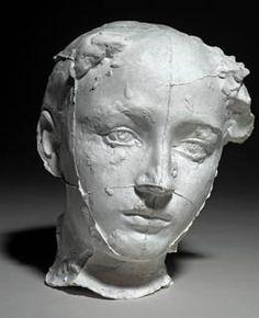 Auguste Rodin (France 1840-1919), Masque de Camille, plaster, c. 1884. Collection Musée Rodin, París.