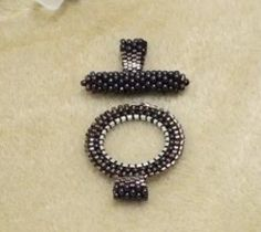 How to Bead Weave a Toggle Clasp (Item ID: 102013, End Time : N/A) - DIY Lessons - Learn Jewelry Making With Online Lessons, Videos and PDF Tutorials