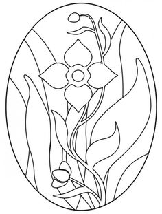 Floral stained glass design Easter arts and crafts.