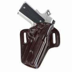 Its unique two-piece construction is contoured on the body side to the natural curve of the hip, keeping all the molding on the front of the holster, allowing for significantly more comfortable carry and a narrower profile than an ordinary pancake type holster.
