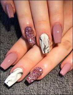 99 Catchy Acrylic Nails Coffin Design Ideas For Any Women #acrylicNail