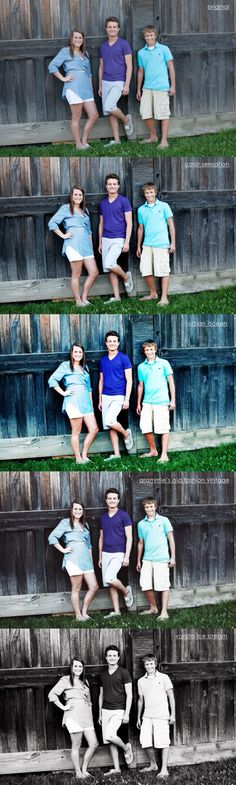 Family Photos Edited Using Photoshop Actions