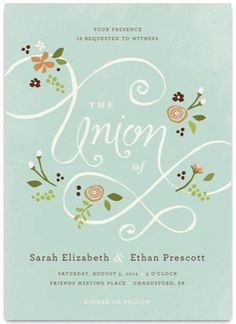 A More Perfect Union Invitation Preview