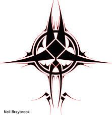 Image result for simple tribal circle tattoo