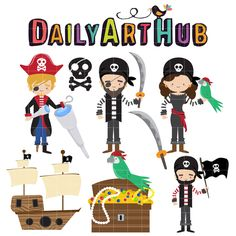 FREE for Feb 20th 2015 - Pirates Yaar Clip Art Set