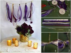 Gold and purple are such an elegant wedding color scheme! Create these gold and purple DIY wedding centerpieces using products from Afloral.com!