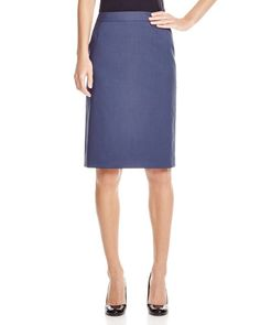 Boss Vilea Plaid Pencil Skirt