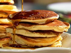Old-Fashioned Pancakes - Martha Stewart Recipes...I veganized it and made it gluten free: vegan butter, almond milk, flax seed for egg, bobs red mill all purpose gluten free flour