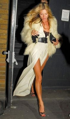 Kate Moss luxe boho - I love this look but I don't think I could ever do the jacket. I'm all about bohemian, but I just can't do it that loud.