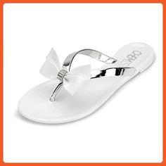 Chemistry T501 Women's Shoes Flat Flip Flops Slip on Sandals (9 B(M) US, White) - Sandals for women (*Amazon Partner-Link)
