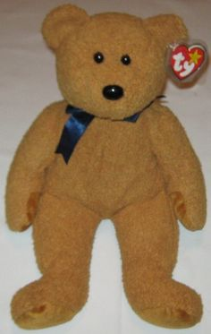 FUZZ the Brown Bear - Ty Beanie Baby BUDDY (buddies) - 13 inches tall Beanie Baby Bears, Ty Bears, Ty Babies, Beanie Buddies, Fuzz, Brown Bear, Beanies, Plushies, Cool Toys