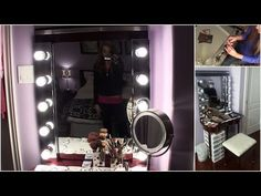 Ideas for Making your Own Lighted Vanity Mirror Unit | Decor Snob