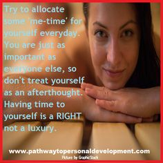 Try to allocate some 'me-time' for yourself everyday. You are just as important as everyone else, so don't treat yourself as an afterthought. Having time to yourself is a RIGHT not a luxury. #p2pdevelopment